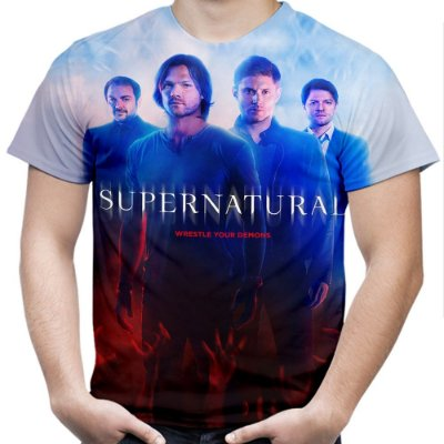 Camiseta Masculina Supernatural Estampa Total Md02