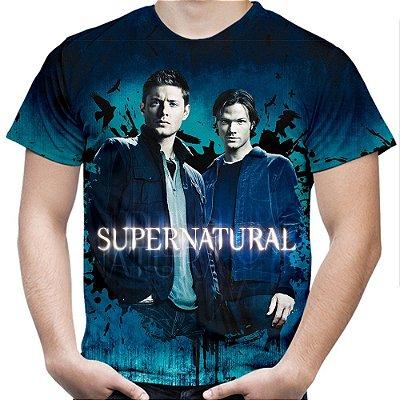 Camiseta Masculina Supernatural Estampa Total Md03