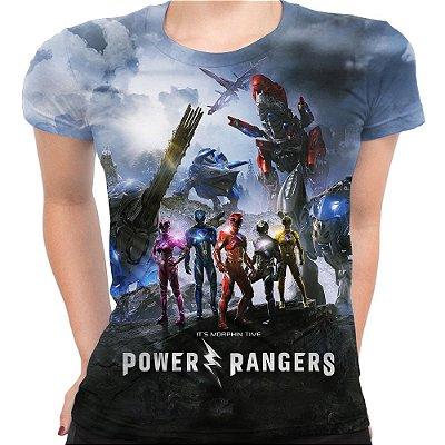 Baby look Feminina Power Rangers Estampa Total Md01