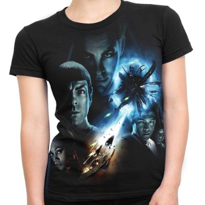 Baby look Feminina Star Trek Estampa Total Md04