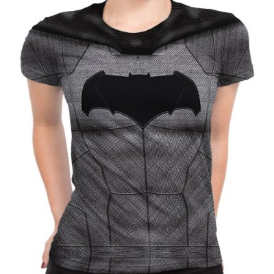 Baby look Feminina Batman Armadura Estampa Total
