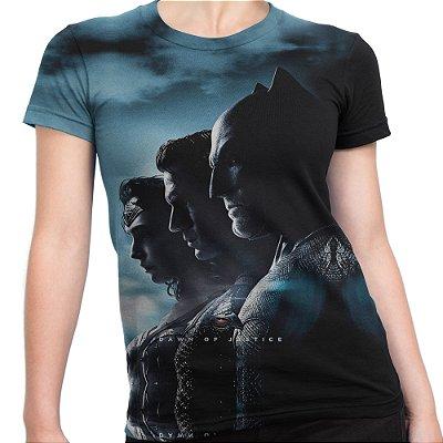 Baby look Feminina Batman vs Superman Estampa Total Md01