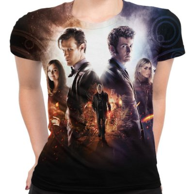 Baby look Feminina Doctor Who Estampa Total Md02