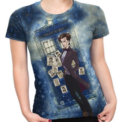 Baby look Feminina Doctor Who Estampa Total Md06