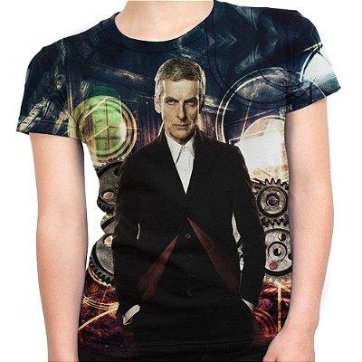 Baby look Feminina Doctor Who Estampa Total Md08