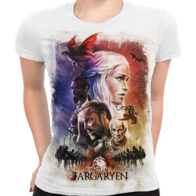 Baby look Feminina Game of Thrones Last Targaryen Estampa Total