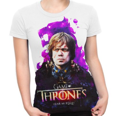 Baby look Feminina Game of Thrones Tyrion Lannister Estampa Total