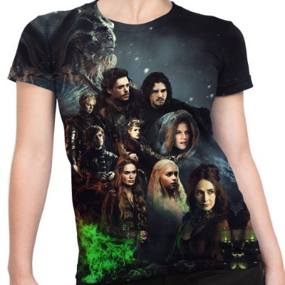 Baby look Feminina Game Of Thrones Estampa Total Md02