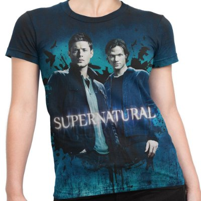 Baby look Feminina Supernatural Estampa Total Md03