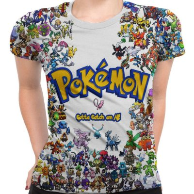 Baby look Feminina Pokemon Estampa Total MD01