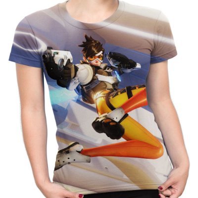 Baby look Feminina Overwatch Estampa Total Md02