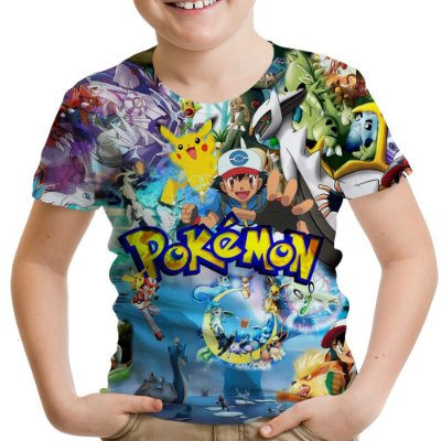 Camiseta Infantil Pokemon Estampa Total MD02