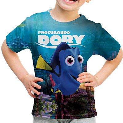 Camiseta Infantil Procurando Dory Estampa Total MD01