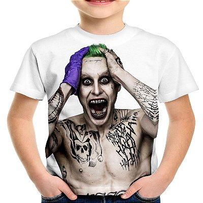 Camiseta Infantil Coringa Joker Estampa Total