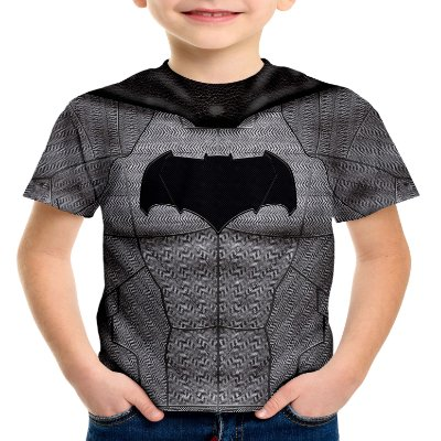 Camiseta Infantil Batman Armadura Estampa Total Md01