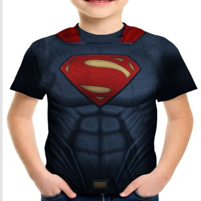 Camiseta Infantil Superman Armadura Estampa Total