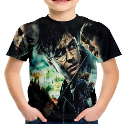 Camiseta Infantil Harry Potter Estampa Total Md01