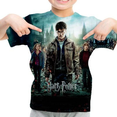 Camiseta Infantil Harry Potter Estampa Total Md03
