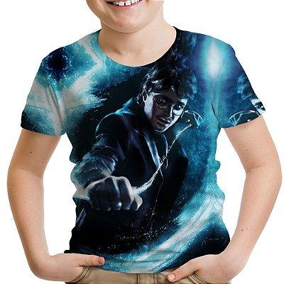 Camiseta Infantil Harry Potter Estampa Total Md04