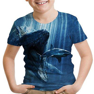 Camiseta Infantil Parque dos Dinossauros Jurassic World Md01