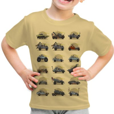 Camiseta Infantil Mad Max Carros Estampa Total
