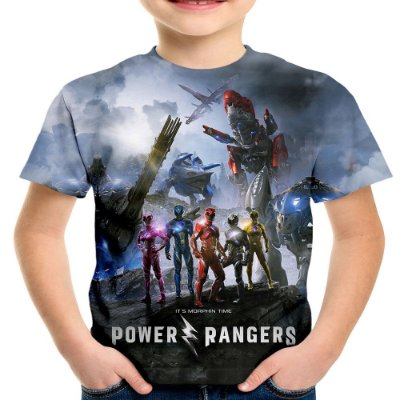 Camiseta Infantil Power Rangers Estampa Total Md01