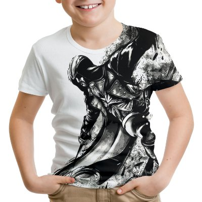 Camiseta Infantil Assassin's Creed Ezio Estampa Total