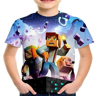 Camiseta Infantil Minecraft Estampa Total Md03
