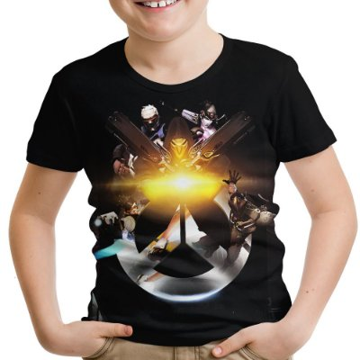 Camiseta Infantil Overwatch Estampa Total Md03