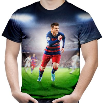 Camiseta Masculina Messi Estampa Total Md02