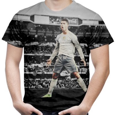 Camiseta Masculina Cristiano Ronaldo CR7 Estampa Total Md01