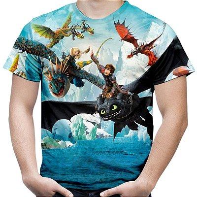 Camiseta Camisa Masculina Como Treinar Seu Dragão Md02