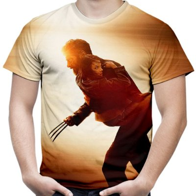 Camiseta Masculina Filme Logan Wolverine Estampa Digital Md02