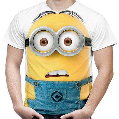 Camiseta Masculina Minions Estampa Digital Md01