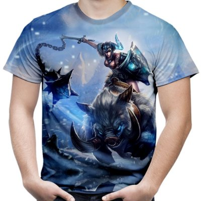 Camiseta Masculina Sejuani Jogo League Of Legends Camisa Lol