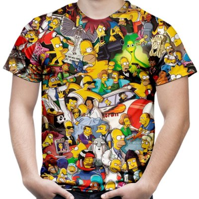 Camiseta Masculina Os Simpsons Estampa Digital Md02
