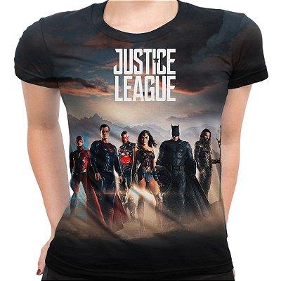 Baby Look Feminina Liga da Justiça