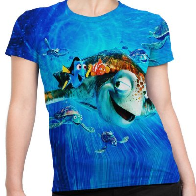Camiseta Baby Look Feminina Procurando Nemo Animação Md01