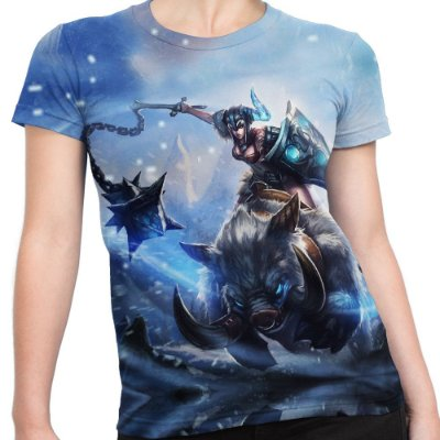 Camiseta Baby Look Feminina Sejuani League Of Legends Lol