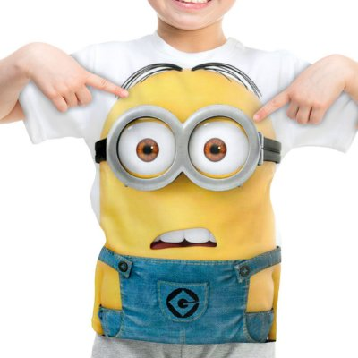 Camiseta Infantil Minions Estampa Digital Md01