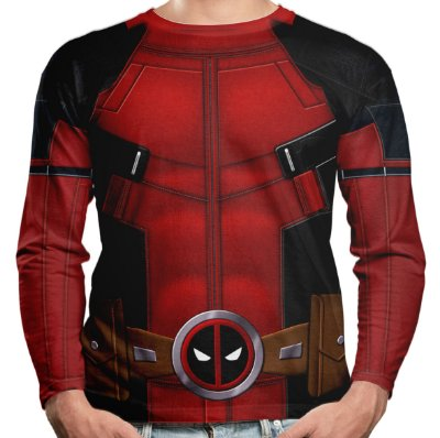 Camiseta Manga Longa Deadpool Md02