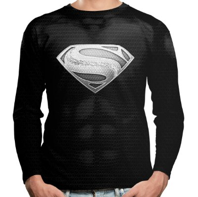 Camiseta Masculina Manga Longa Superman Black
