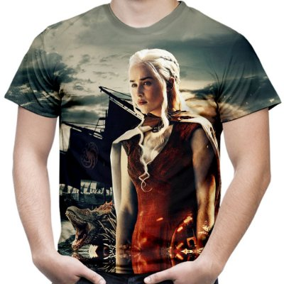 Camiseta Masculina Game Of Thrones Estampa Total Md05