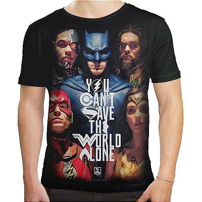 Camiseta Masculina Liga da Justiça Estampa Total Md02