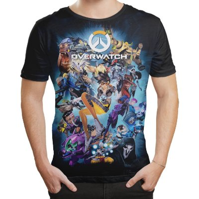 Camiseta Masculina Jogo Overwatch Over Watch Md4