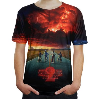 Camiseta Camisa Masculina Série Stranger Things 2 Md02