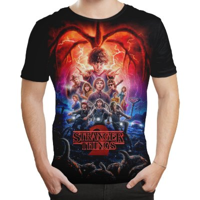 Camiseta Camisa Masculina Série Stranger Things 2 Md03