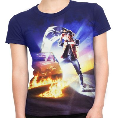 Camiseta Baby Look Feminina De Volta Para O Futuro Md01