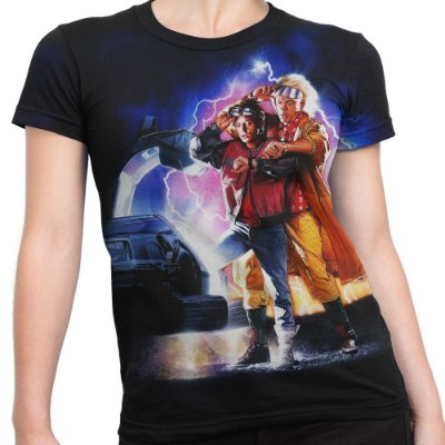 Camiseta Baby Look Feminina De Volta Para O Futuro Md02