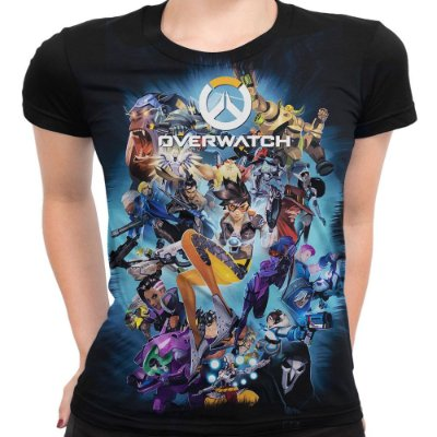 Camiseta Baby Look Feminina Overwatch Over Watch Md04